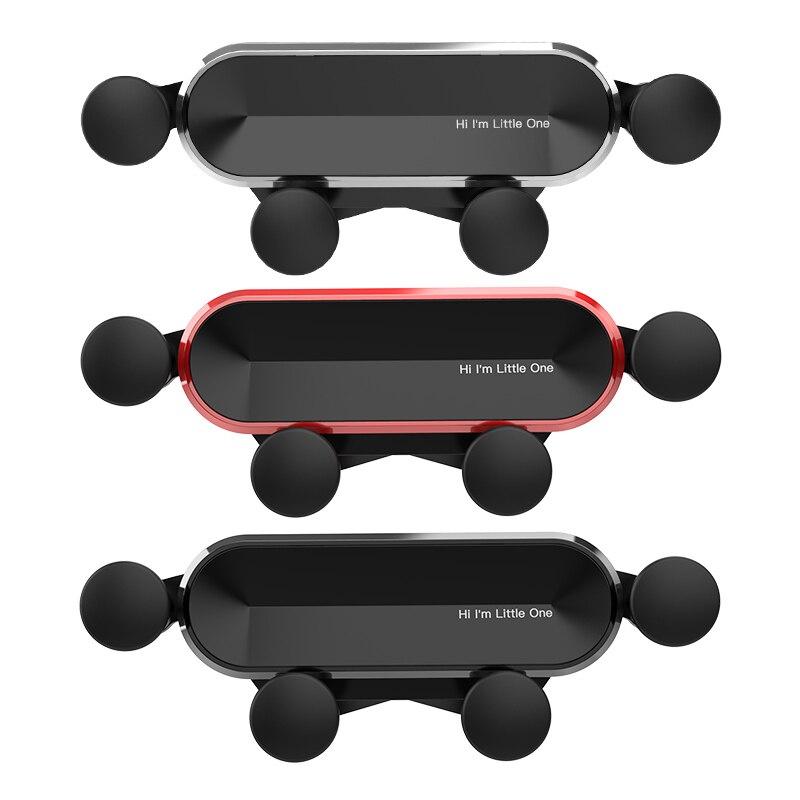 Little One Protable Car Phone Aluminum Alloy Mini Gravity Bracket Mobile Phone Adjustable Holder Hidden Mobile Phone Bracket