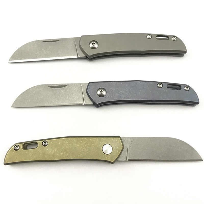 أحدث Serge سكين للفرد M390 شفرة سبائك التيتانيوم مقبض أدوات تكتيكية لحفظ الحياة جيب السكاكين التخييم الصيد مفتاح EDC أداة