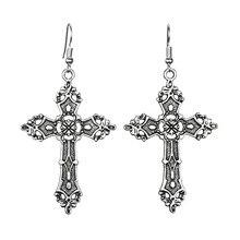 3c27351a24f5 Pendientes colgantes de Cruz barroca colgante de Cristo Vintage bohemios  1980 pendientes góticos colgantes de Madonna joyería de.