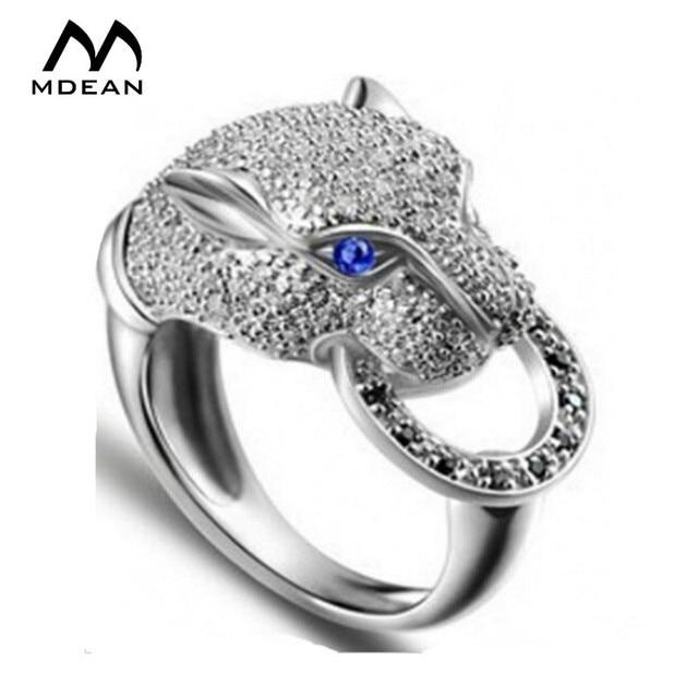 Famoso MDEAN Leopardo gioielli In Oro Bianco anelli per le donne di  RT14