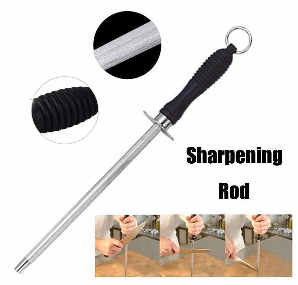 1Pcs Quality 10 Inch Knife Sharpener Carbon Steel Sharpening Rod Chefs Plastic Handle Kitchen Knives Sharpening Tools musat #20