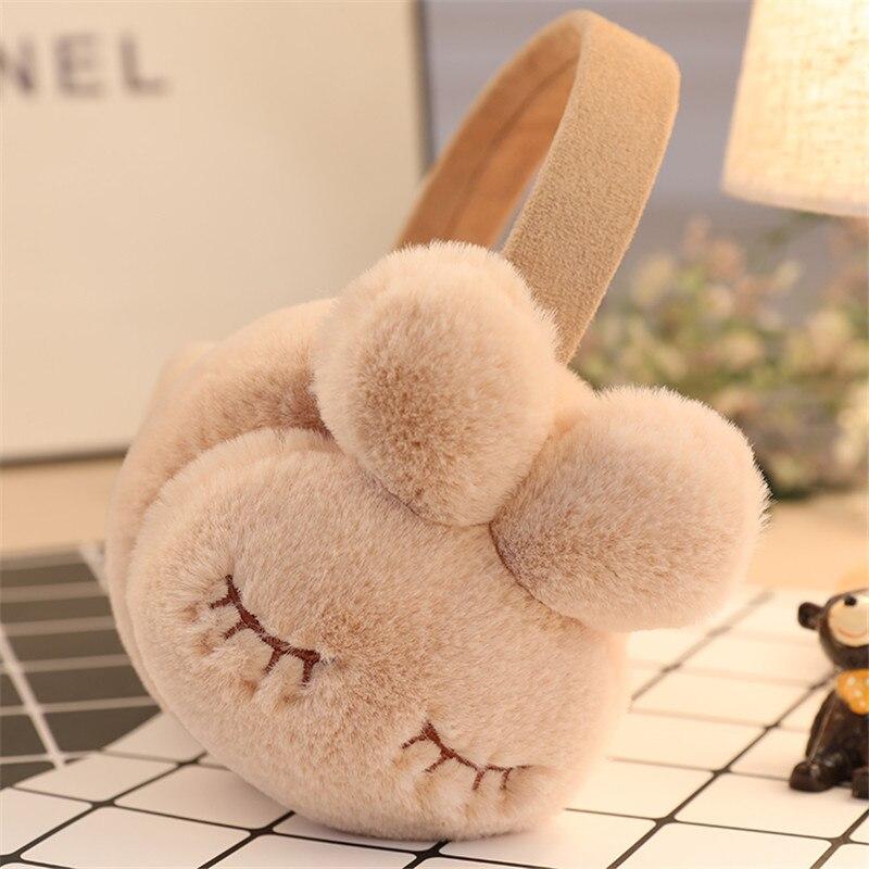Adjustable!!!Cute Cartoon Rabbit Winter Earmuffs For Women Warm Earmuffs Ear Warmers Gifts For Girls Cover Ears AD0605