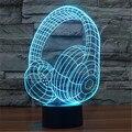 Fones De Ouvido de acrílico Colorido Nightlight USB Ruído Telefone Sem Fio Tablet PC LEVOU Candeeiro de Mesa de Presente de Natal para Crianças-108