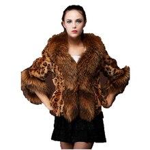 Faux fur coat women 2019 winter Europe and America S-3XL short paragraph Leopard print long sleeve fashion faux jacket JD393