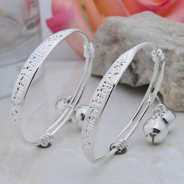 925 Sterling Silver Bracelet For Baby Children Boys Grils Bracelets Bangles