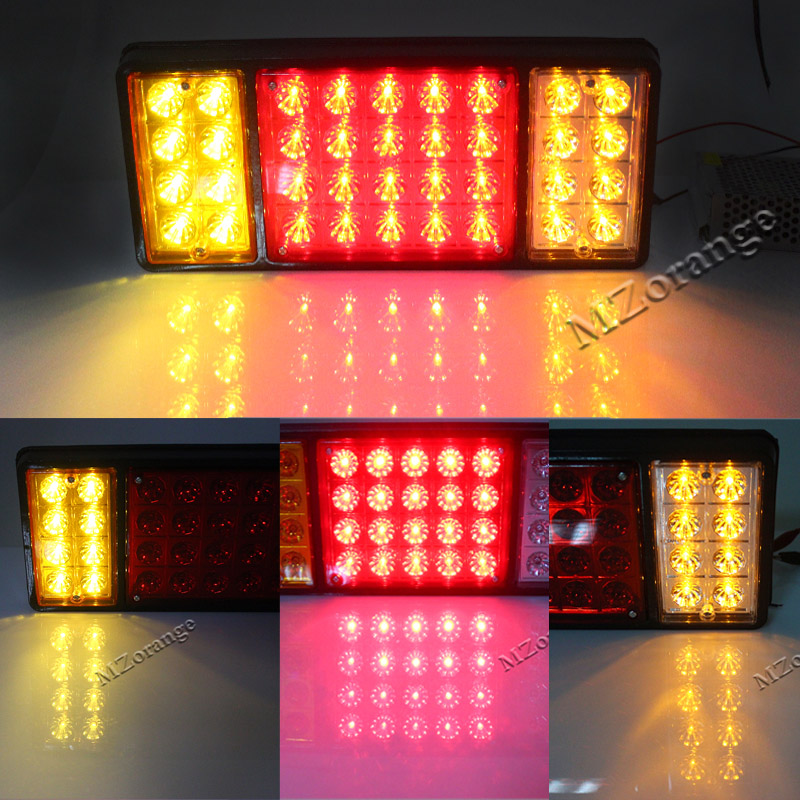36 LED Rear Turn Signal For Caravan Truck Pickup Trailer Stop Rear Tail Lights Indicator Lamp External Light 12V 24V Newest !!! 4 pcs 12 led motorcycle turn signal lights bendable flashing motorbike indicator blinker moto tail lights signal lamp for harley