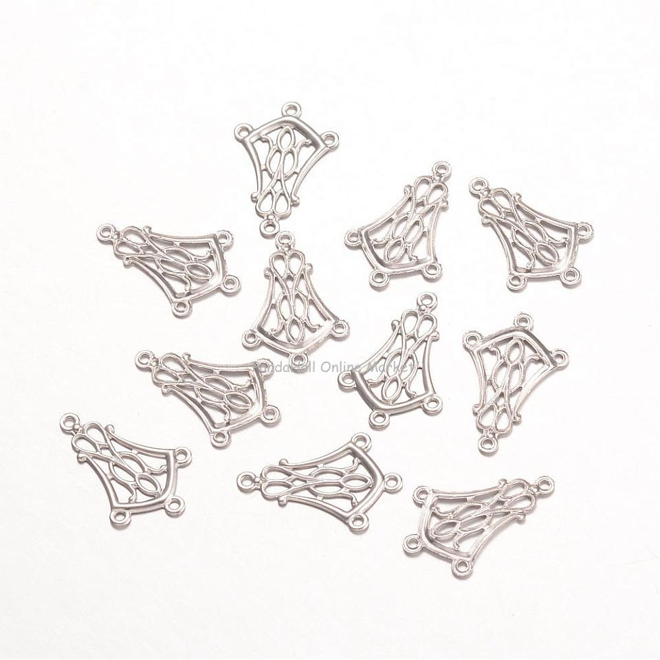 316 Stainless Steel Chandelier Components, Flower, Stainless Steel Color, 20x13x0.8mm, Hole: 1mm