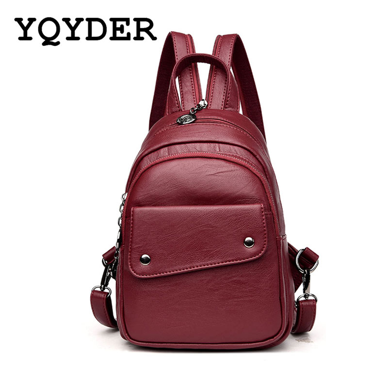 Fashion Women Backpack Black Soft Leather  Backpacks Female School Shoulder Bags for Teenage Girls Travel Back Pack Sac a Dos 2016 fashion women backpacks rivet soft sheepskin leather bags shoulder for teenage girls female travel bag free gift