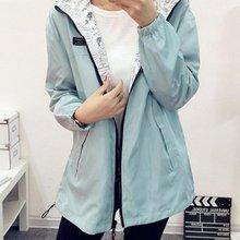 New Fashion Women Bomber Basic Jacket Pocket Hooded Zipper Two Side Wear Coats Cartoon Print Outwear Loose Plus Size