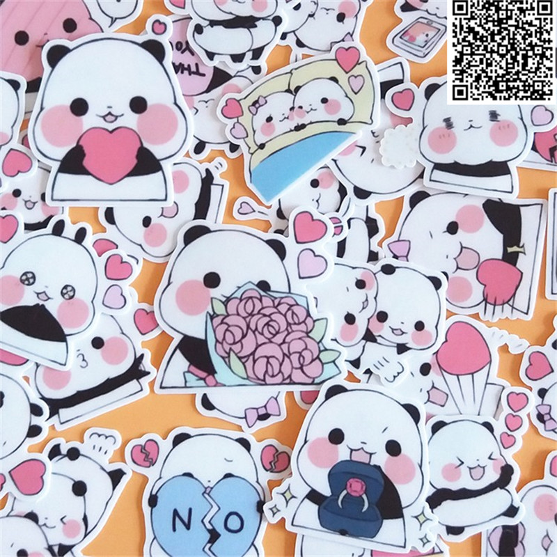 40 pcs Cartoon cute red panda stickers for Home decor on phone book macbook laptop sticker decal fridge skateboard doodle toy