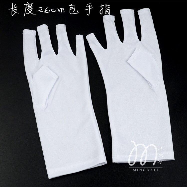 2016 Anti Uv Nail Gloves Mitt Long Glove For Uv Light/lamp Radiation ...