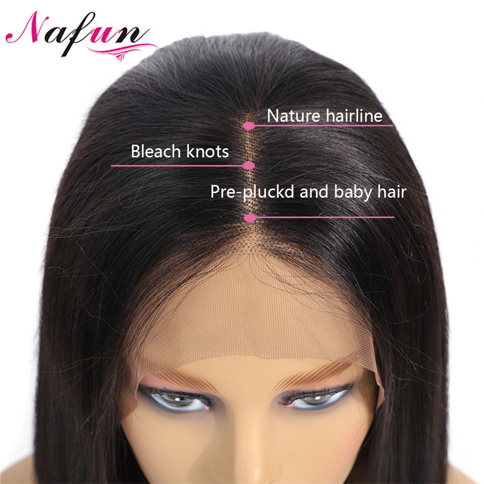 13x4 Lace Front Human Hair Wigs Peruvian Remy Hair Straight Bob Wig With Baby Hair Lace