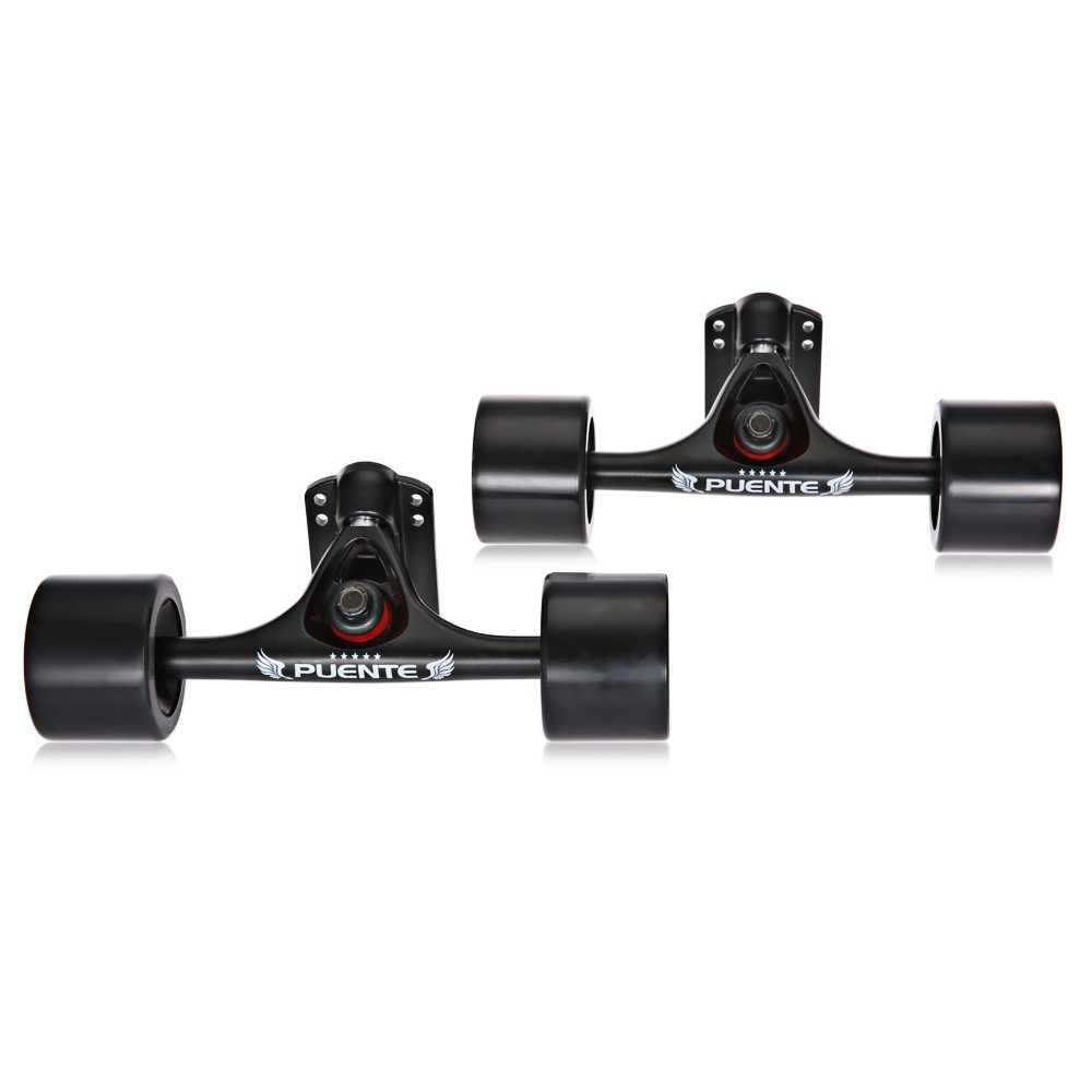 2 Buah Papan Luncur Truk Roda 4 Longboard Roda Pengangkat Pad ABEC 9 Bolt Nut Paduan Profesional Jembatan Skate Board bracket