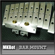 Horizon Elephant 3D printer accessory MKBOT bar mount for Double-mouth nozzle (L*W*H:86*15*13mm) ALUMINIUM ALLOY block 50 g gre