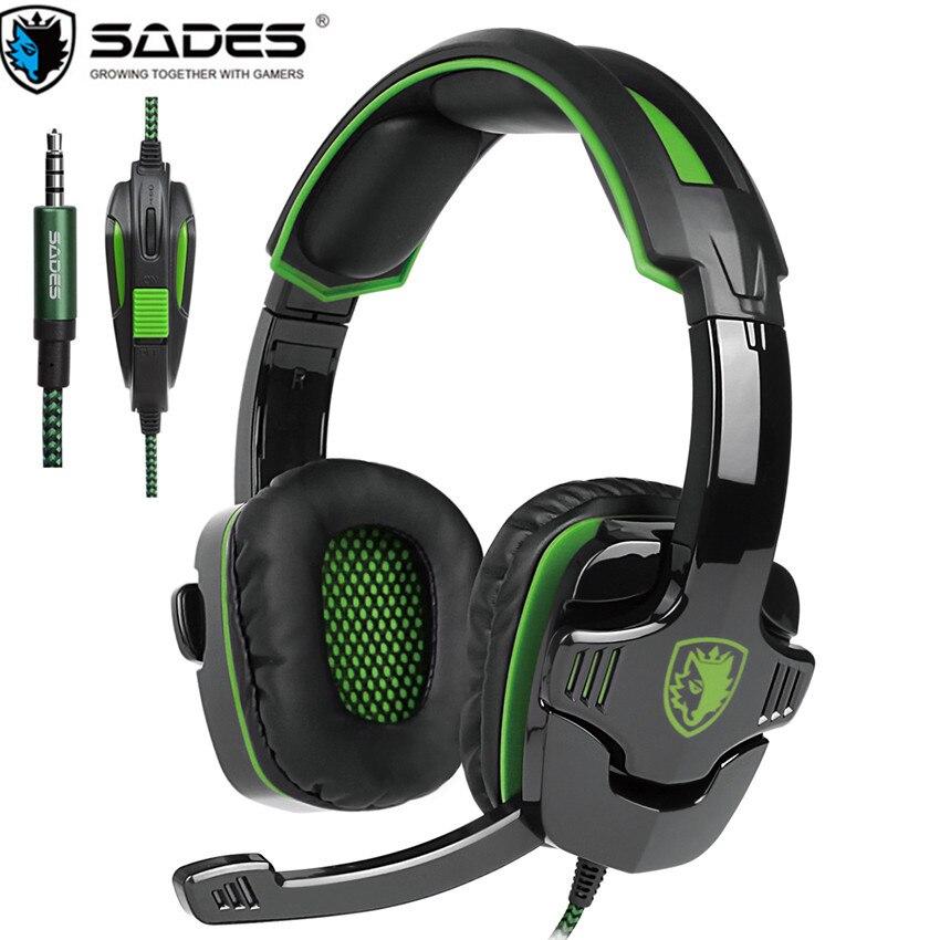 PS4 Gaming Headset SADES SA930 SA-930 Basso Casque gaming Cuffie con Microfono per il Telefono Mobile Nuovo Xbox one Del Computer Portatile Tablet