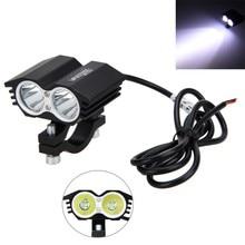 1 шт 12 V-36 V 30 W 3000LM 2x XM-L T6 светодиодный мотоцикл пятно свет работы внедорожные туманные свет лампы