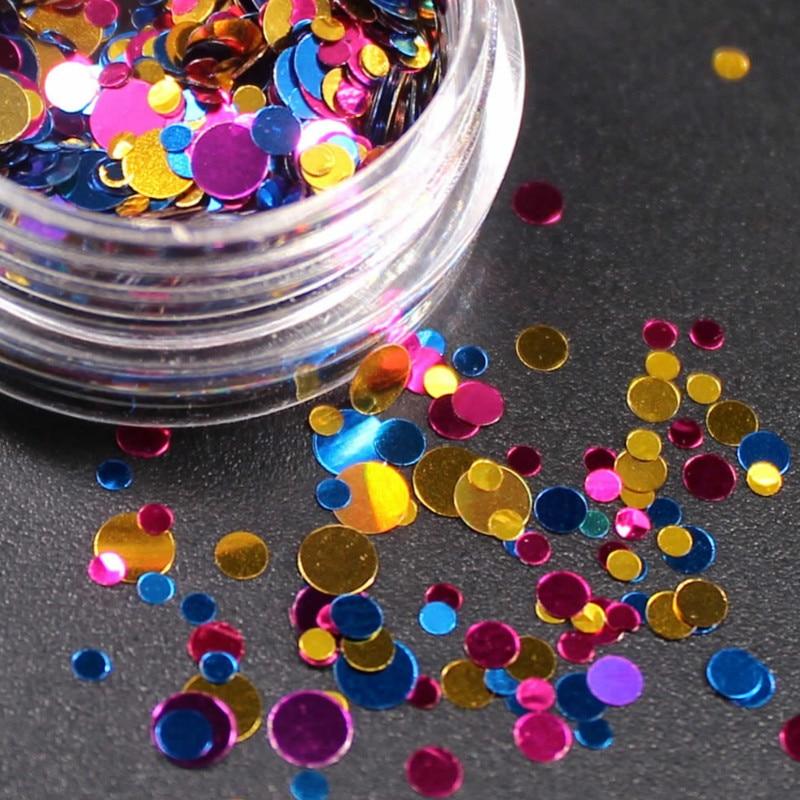 Nails Art & Werkzeuge Willensstark 2018 Neue 1 Box Shiny Runde Ultradünne Pailletten Bunte Nail Art Glitter Tipps Uv Gel 3d Nagel Dekoration Maniküre Zubehör Schönheit & Gesundheit