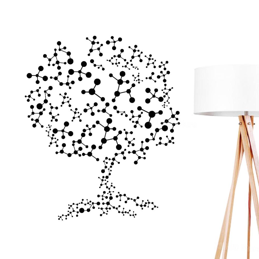 Molecules Tree Wall Stickers Bedroom Science Atoms