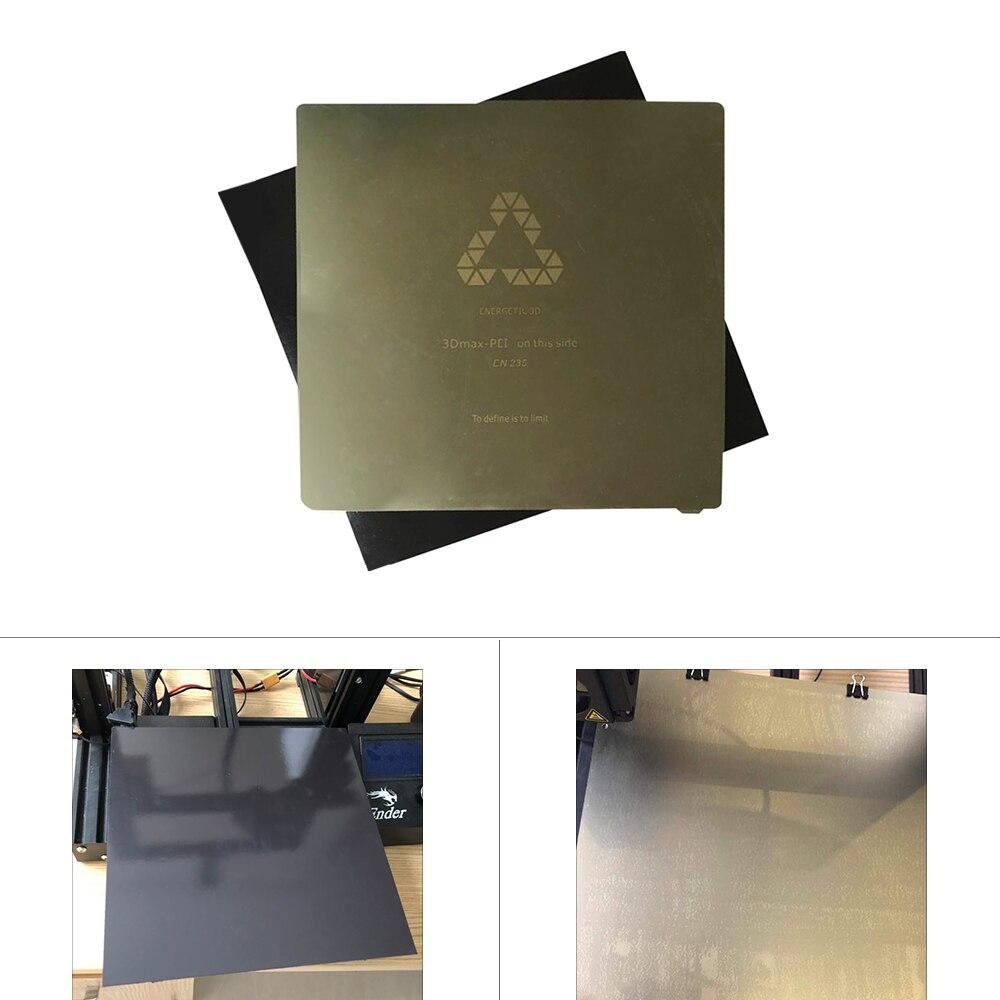 FLEXBED nouvelle mise à niveau 310x310mm Flex printemps acier appliqué PEI plaque + magnétique chaud autocollant pour imprimante 3D CR-10 10 S S3 lit chauffant - 5