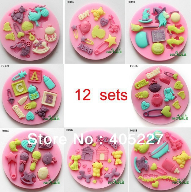 How To Decorate Cake Balls Delectable 12Sets 3D Various Flower Decorating Cake Pop Cutter Fondant Craft Decorating Inspiration