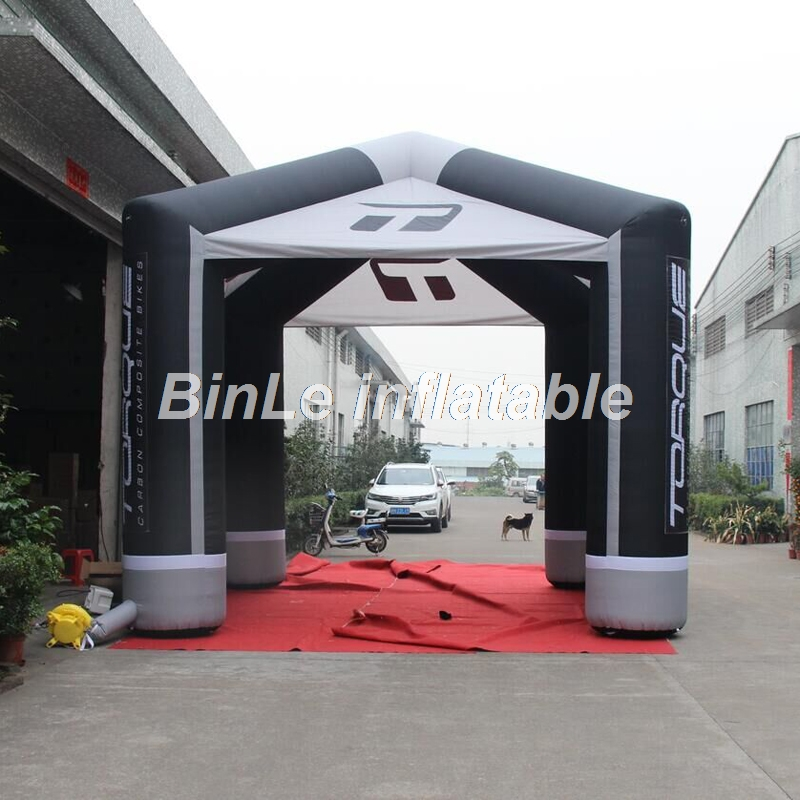 High quality 5x5m commercial inflatable cube tent for trade show and exhibition booth stand tent sale visual communication spotlights for exhibition and trade fairs 40cm long arm and 30cm extra height