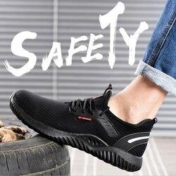 Nowe modne męskie duże rozmiary oddychające stalowe noski robocze obuwie ochronne antyprzebiciowe oprzyrządowanie ochronny zabezpieczający