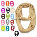 New Jersey Circle Loop Shawl Infinity Plain Scarf / Snood For Women/Ladies Free Shipping 2016 New Fashion