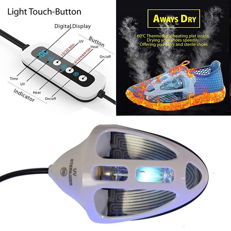 Shoes Boot UV Medical Sterilizer Light Dryer Warmer Deodorizer Dehumidify Sanitizer Reset Switch Ultraviolet Ozone Sterilization