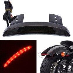 Vermelho/fumado lente traseira parar led cauda luz de freio para motocicleta bobber chopper cafe racer