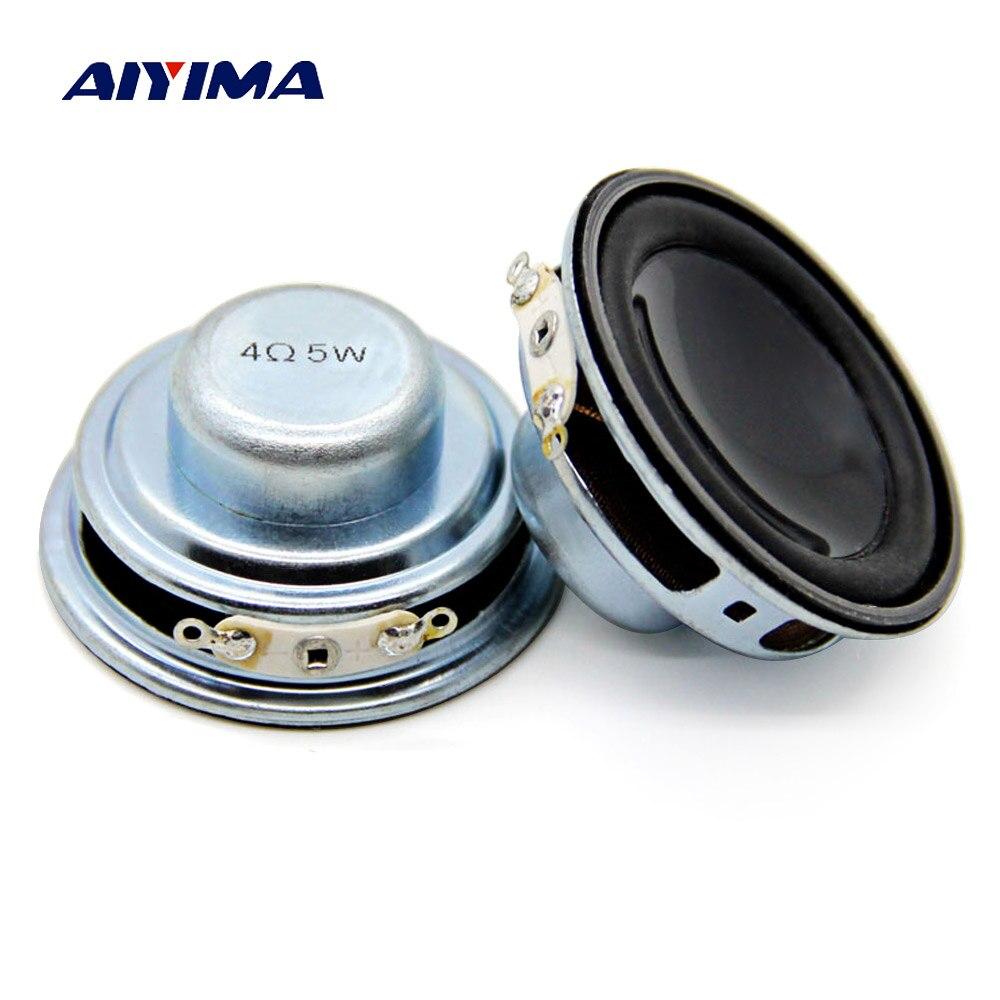 ZuverläSsig Aiyima 2 Pcs 45 Mm Mini Audio Tragbare Lautsprecher 4ohm 5 W Bass Lautsprecher Woofer Multimedia Lautsprecher Diy Für Home Theater Dauerhafte Modellierung Tragbare Lautsprecher Unterhaltungselektronik