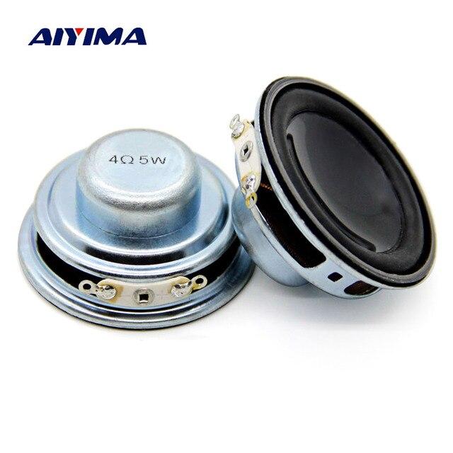 AIYIMA 2 piezas 45 MM de Audio Mini altavoces portátiles 4OHM 5 W bajo orador Woofer altavoz de Multimedia para bricolaje casa teatro