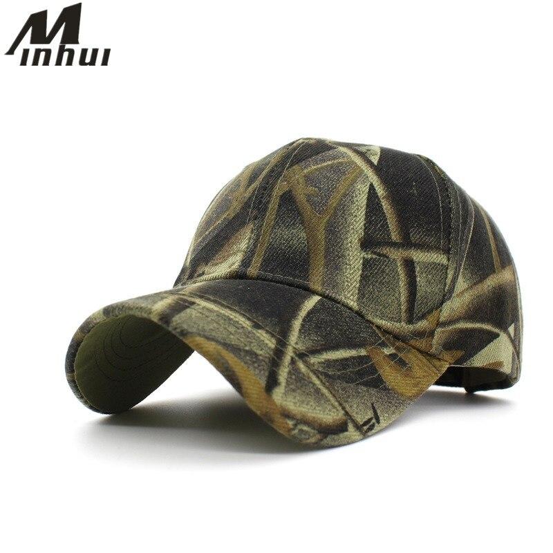 Minhui Camouflage Baseballové čepice Pánské Nastavitelné Casquette čepice Snapback Klobouky pro muže ženy