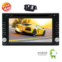 HD Android 6.0 Car Navigation Stereo 2 Din Quad Core Car DVD Player FM Radio GPS WiFi Bluetooth support OBD2 Free Backup Camera