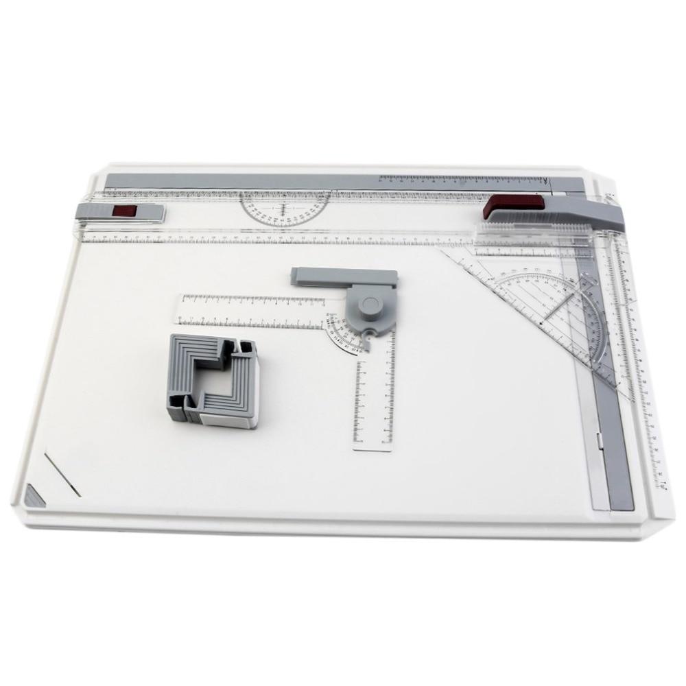 Portable A3 planche à dessin Table avec Mouvement Parallèle Réglable Angle Rapporteur Pour Avis Art Peinture Dessin Outils Palette