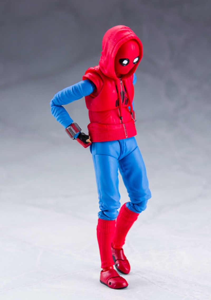 SHF Spiderman Action Figure Giocattolo Spider-Man Ritorno A Casa PVC Figura Mobile Figurine Collection Modello