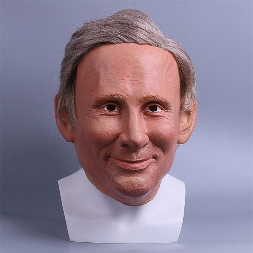 Realistic Trump Mask Putin Mask Presidential Costume Adults Halloween Deluxe Latex Full Head Donald Trump Mask with Hair 4