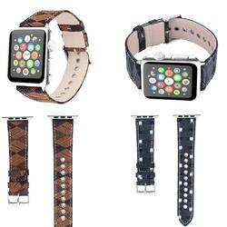 Новый браслет ремешок для Apple Watch полоса ткани ковбой шаблон 42 мм 38 мм 40 мм 44 мм пряжки серии 4/3/2/1 для iWatch 4