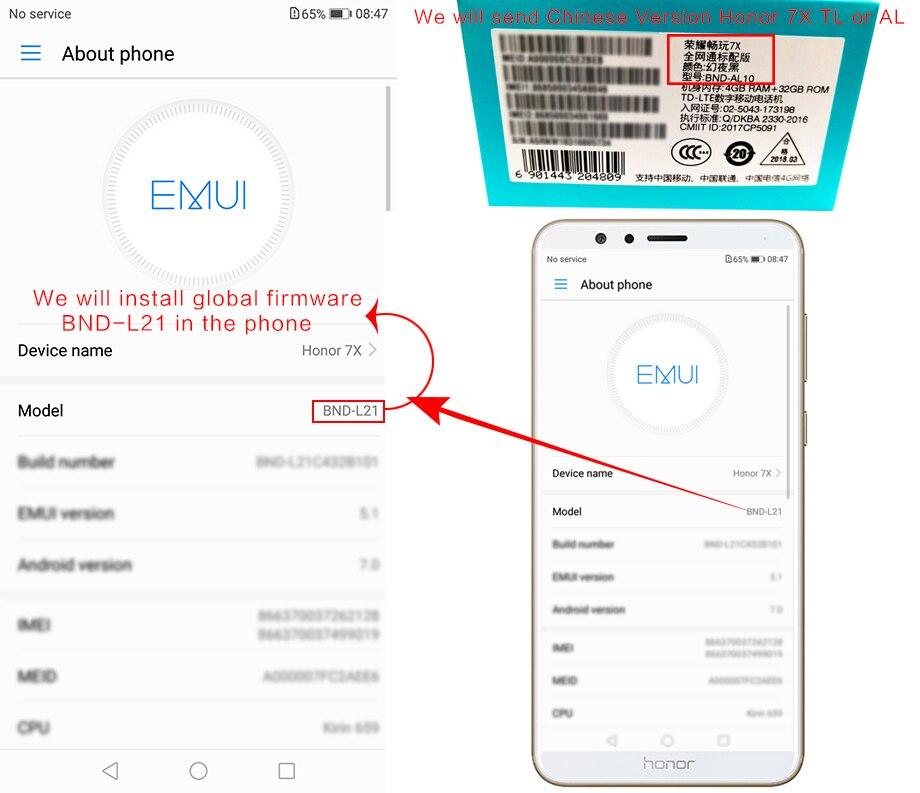 Global Rom Huawei Honor 7X 4GB 32/64GB OTA Update 5 93