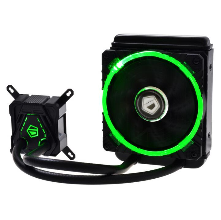 Original for ID-COOLING Mute 120 Integral CPU Water Cooled Radiator Water Cooled Fan 115X LGA 1366 2011 for AMD Universal aerocool 15 blade 1 56w mute model computer cpu cooling fan black 12 x 12cm 7v