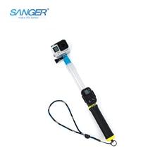 SANGER for Gopro Accessories Waterproof Retractable Transparent Selfie Stick Monopod for Xiaomi Yi Go Pro Hero 5 4 3+ Sjcam