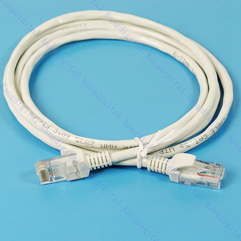 White Color 1.5M RJ45 Ethernet Network Cables For CAT5E Durable Internet Patch LAN Cable Cord For Computer
