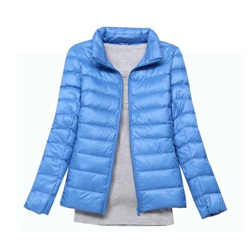 2017 donne di modo tenere in caldo Super leggero sottile 90% piume d'anatra Bianca giacca/femminilità Stand collare di Grandi dimensioni verso il basso cappotto