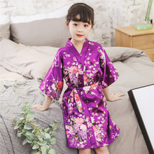 Girls Bathrobes Kids Sleepwear Robe Baby Bath Robes For Childrens Pajamas 2019 Spring Autumn Nightgown