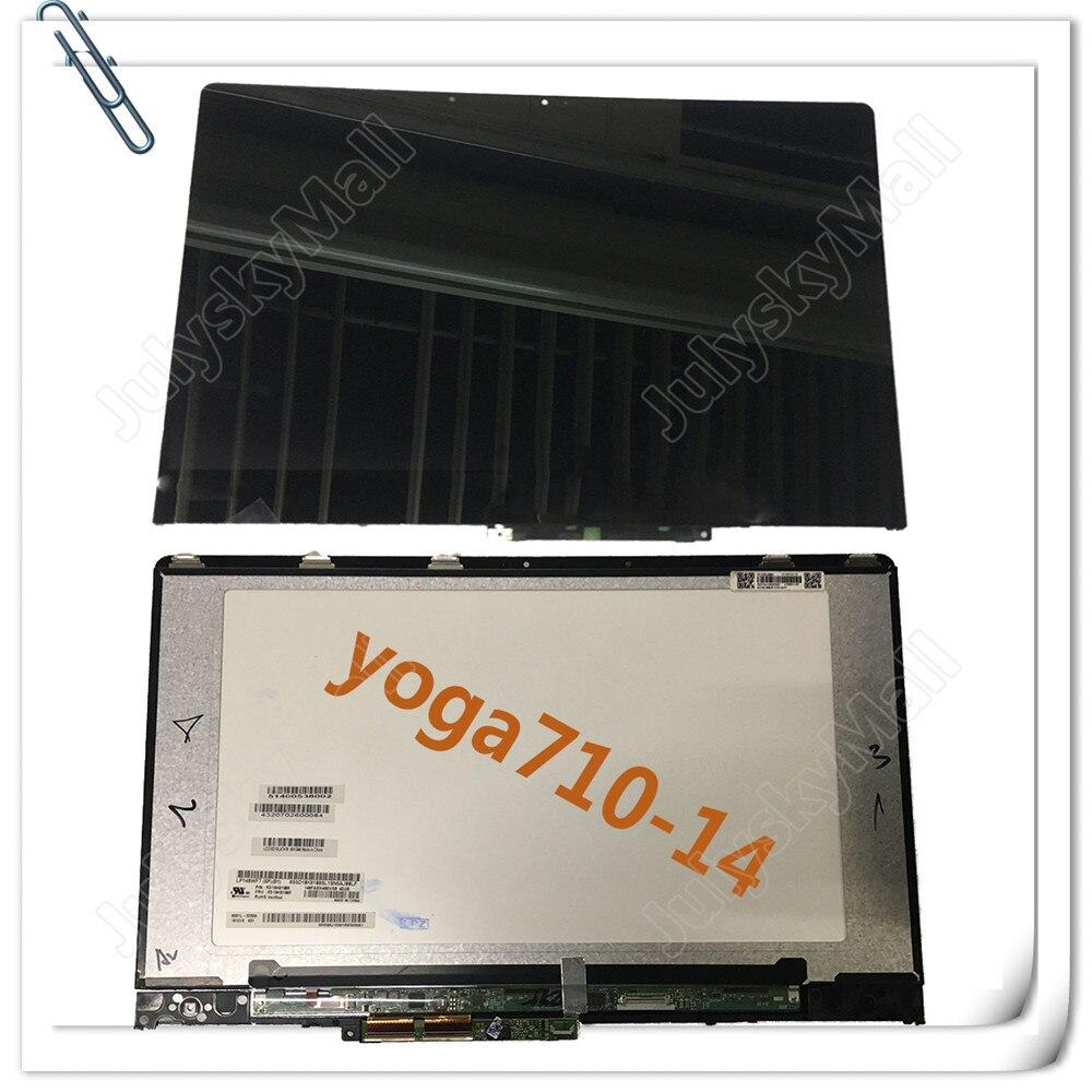 Pour Lenovo Yoga Nouveau 710-14 De Yoga 710 14 Yoga 710-14IKB 80V4002NCD 1080 P LCD LED Écran Tactile Composants et Cadres