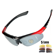 4 Lenses Polarized Cycling Bike Sun Glasses Outdoor Sports Bicycle Bike Eyewear TR90 Goggles Eyewear 5 Lens Bicycle Accessory