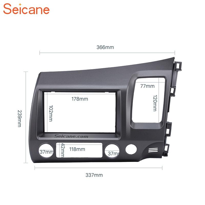Seicane 178*102mm 2Din voiture Radio Fascia cadre Indash garniture Kit de montage panneau pour Honda Civic (RHD) 2008 2009 2010 2011