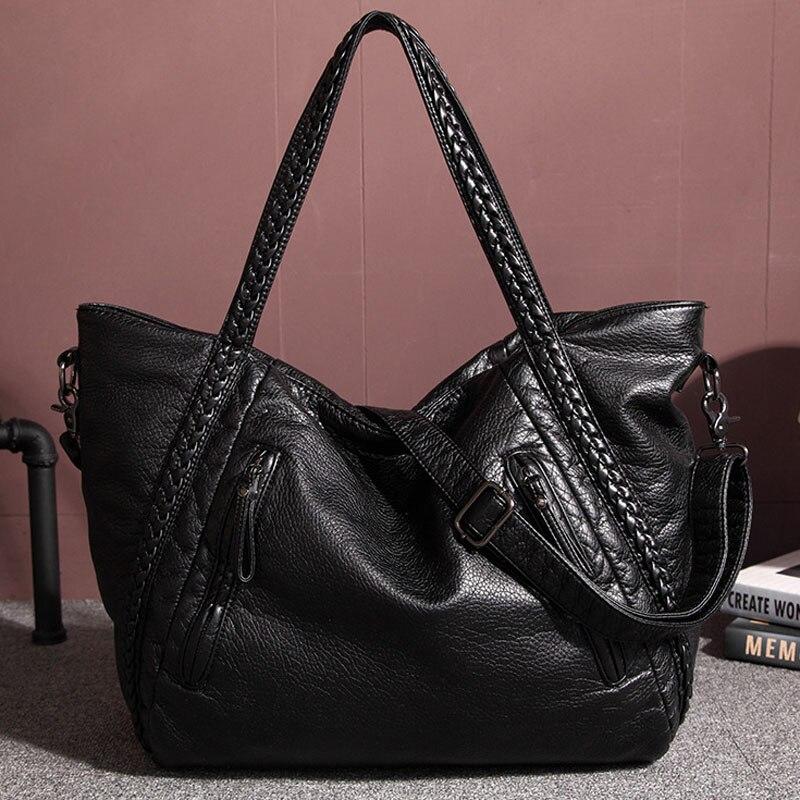 5f38437b3275 Бренд Для женщин Большой сумка из мягкой кожи дизайнерские Сумки высокое  качество SAC основной Femme De