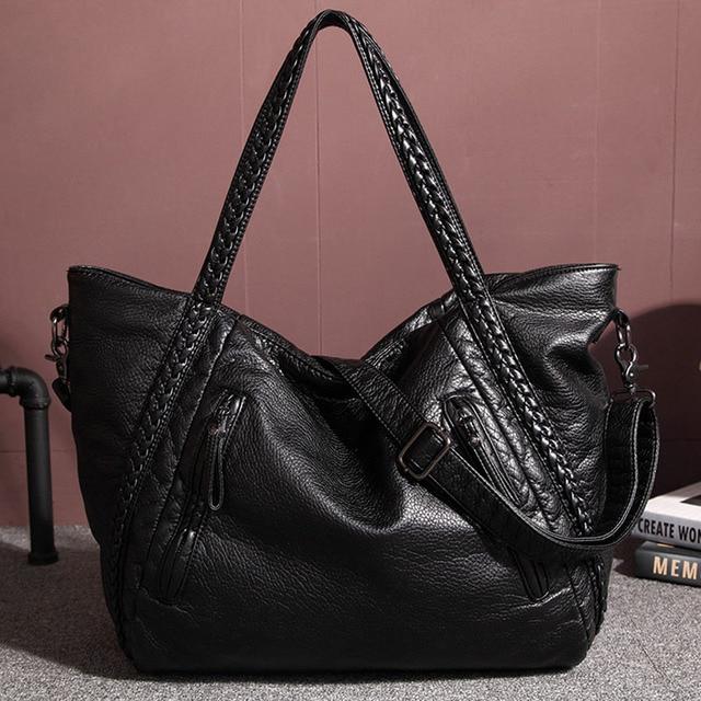 38a04ac59f2 Marque femmes grand Sac fourre-tout en cuir souple Designer sacs à Main De  haute