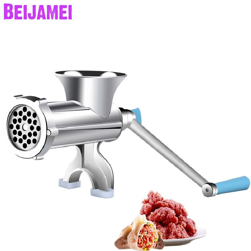 Beijamei household manual sausage filler stainless steel blade meat grinder grinding noodles maker machine price
