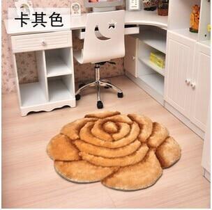 3D стерео ковер с розами журнальный столик для гостиной коврик диван кровать спальня коврики Европейская мода на заказ ковер - Цвет: Khaki
